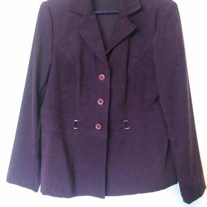Notations, size large plum colored jacket